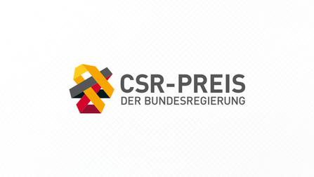 """Logo """"CSR-Preis der Bundesregierung""""."""