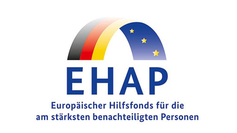 Logo des EHAP - Europäischer Hilfsfonds für die am stärksten benachteiligten Personen.