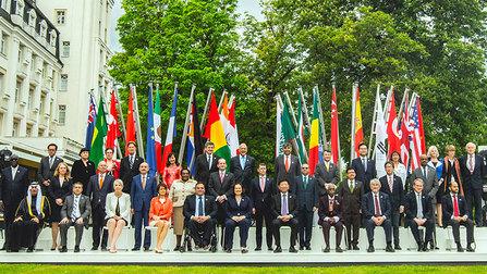 Gruppenbild G20-Arbeitsministerinnen und -minister.