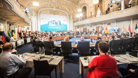 Kongresssaal des G20-Treffens.