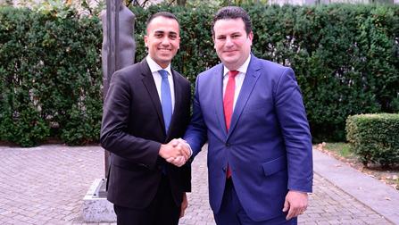 Bundesminister Heil trifft italienischen Kollegen, den Minister für Wirtschaft und Arbeit Luigi di Maio im BMAS.