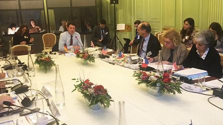 Björn Böhning beim G7-Treffen in Paris.