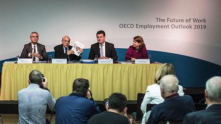 Bundesminister Hubertus Heil und OECD-Generalsekretär Angel Gurría.