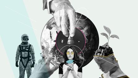 Collage zum Thema Macht und Kooperation.