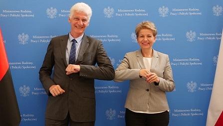 Staatssekret�r Schmachtenberg und Alina Nowak