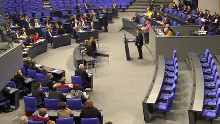 Hubertus Heil bei seiner Rede.