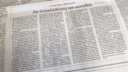 Zeitungsausschnitt des Gastbeitrags.