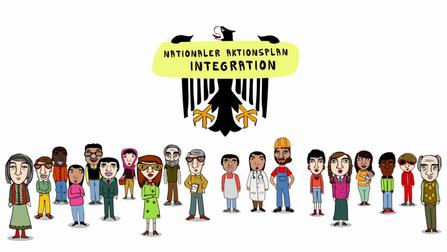 Ein Illustration von einer Gruppe Menschen.
