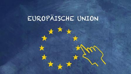 EU-Sternenkranz mit Schriftzug �Europäische Union�.