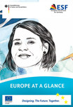 "Title cover of the brochure ""Europe at a glance"". Opens page: Europe at a glance"