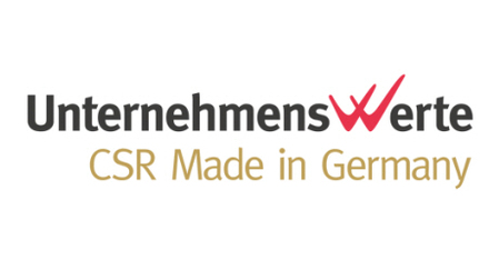 Unternehmenswerte - CSR (Corporate Social Responsibiliy) in Germany - Logo  Opens page: Corporate Social Responsibility in Germany
