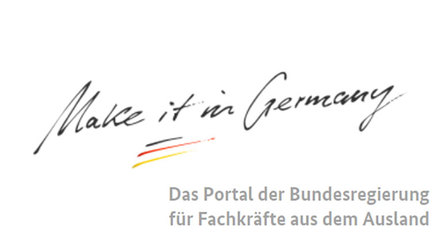 "Logo ""Make it in Germany"". Opens page: ""Make it in Germany"""
