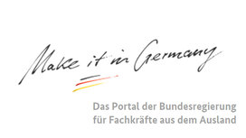 "Logo ""Make it in Germany"". Öffnet Seite: ""Make it in Germany"""