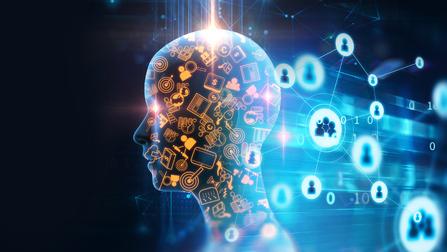 Darstellung eines digitalen Kopfes.
