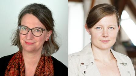 Bildcollage aus den Porträtfotos von Michaela Evans und Dr. Jutta Steiner