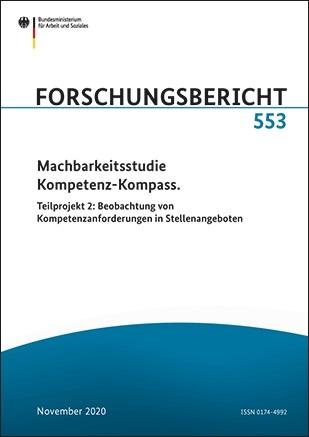 Titelblatt des Forschungsberichts 553