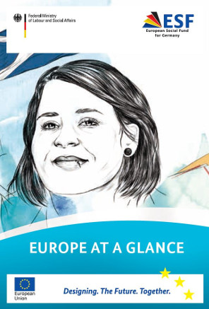 "Title cover of the brochure ""Europe at a glance""."