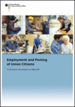 Titel cover of report Öffnet Seite: Employment and Posting of Union Citizens