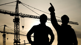 construction worker on construction side Opens page: Navigating the labour market