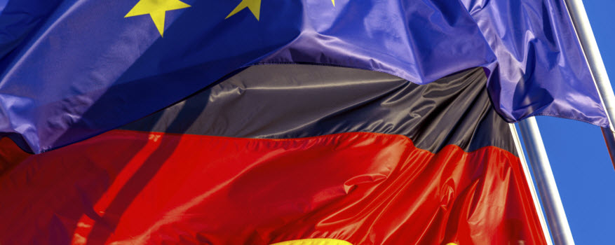 Flags of Germany and the European Union