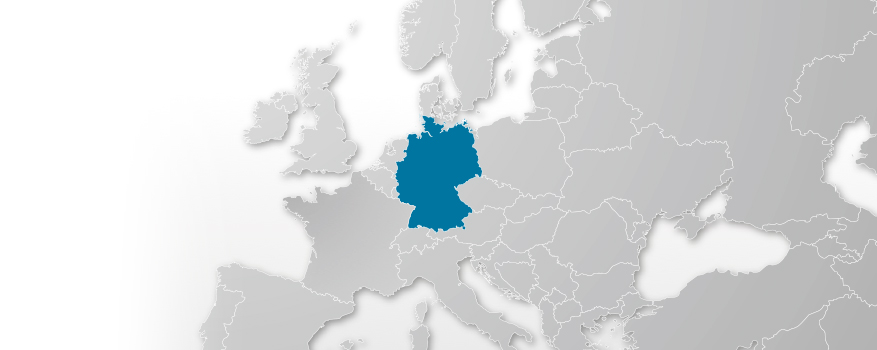 map of europe germany is highlighted