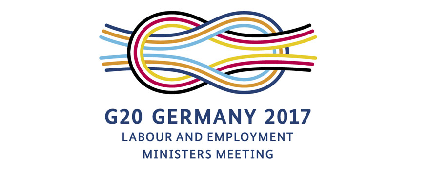 Logo G20 Germany 2017. Labour and employment ministers meeting.