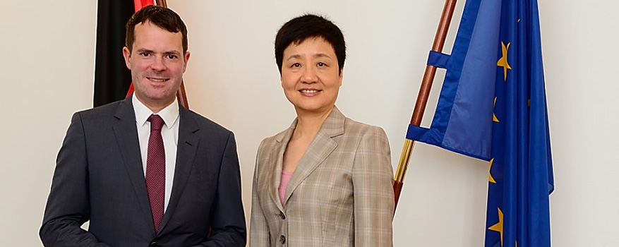 State Secretary Böhning and Deputy Minister Goa Xiaobing.