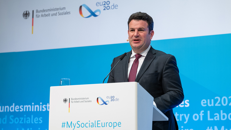 "Federal Minister Hubertus Heil Opens page: Hubertus Heil: ""We want all people in the EU to be able to live their lives with security and dignity"""